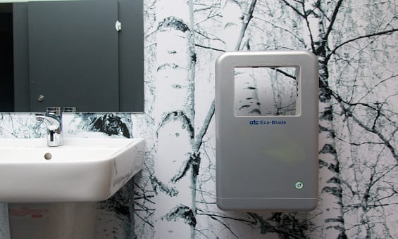 Applegreen Service Station Washrooms - Eco Blade Hand Dryers
